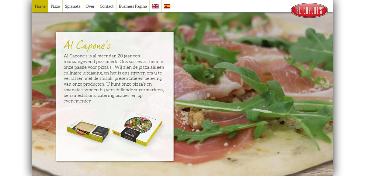 Al Capone's Pizza's: Herontwerp Website