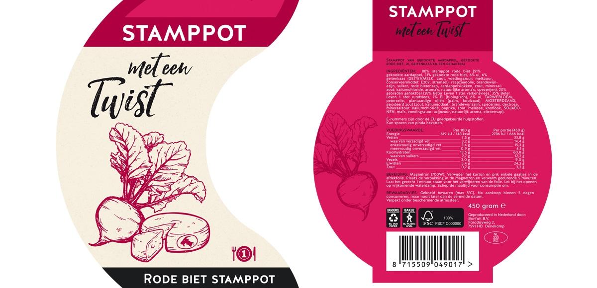 Bonfait: Verpakking Stamppot met een Twist