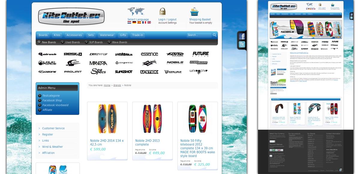 KiteOutlet: Web Shop