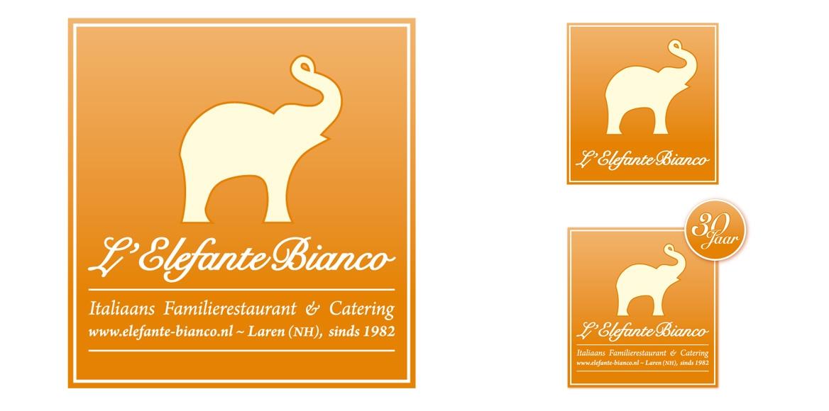 l'Elefante Bianco: Logo en Huisstijl
